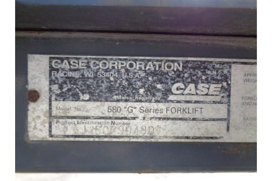 Lot 31 - Case 580G 6000lb Rough Terrain Forklift