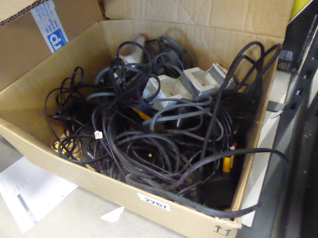 Bag containing various cabling, power supplies and controllers