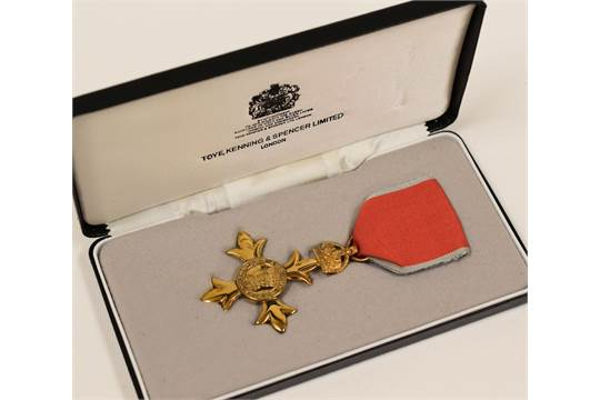 MODERN CASED OBE AWARDED TO MR DONALD MARSHALL WESTON by