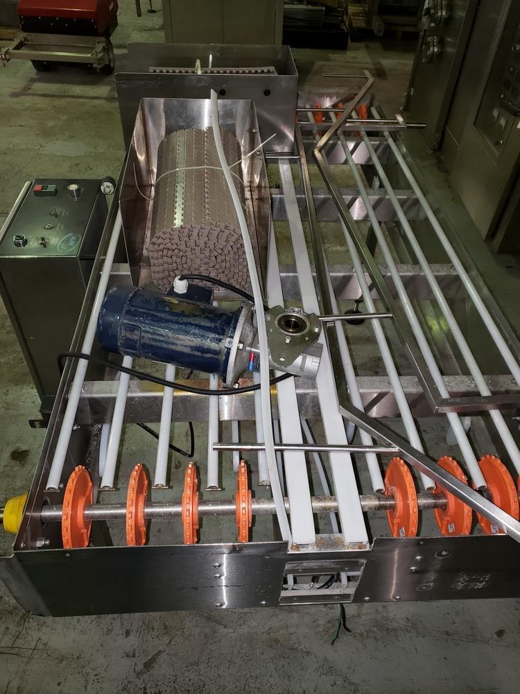 "NJM/CLI Bi flow conveyor, model TACO-S014, 30"" wide x 64"" long, with individual .5 hp dc conveyor - Image 2 of 9"