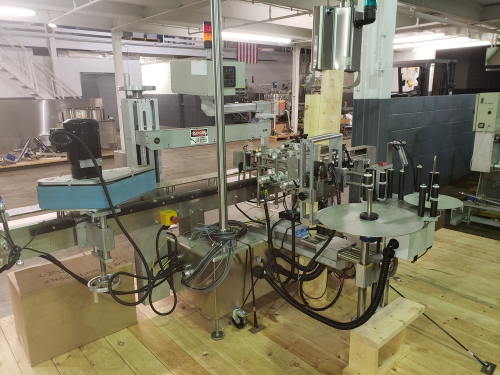 Quadrel wrap around labeler, model Versaline, single head with Open Date coder, timing feed screw, - Image 14 of 17