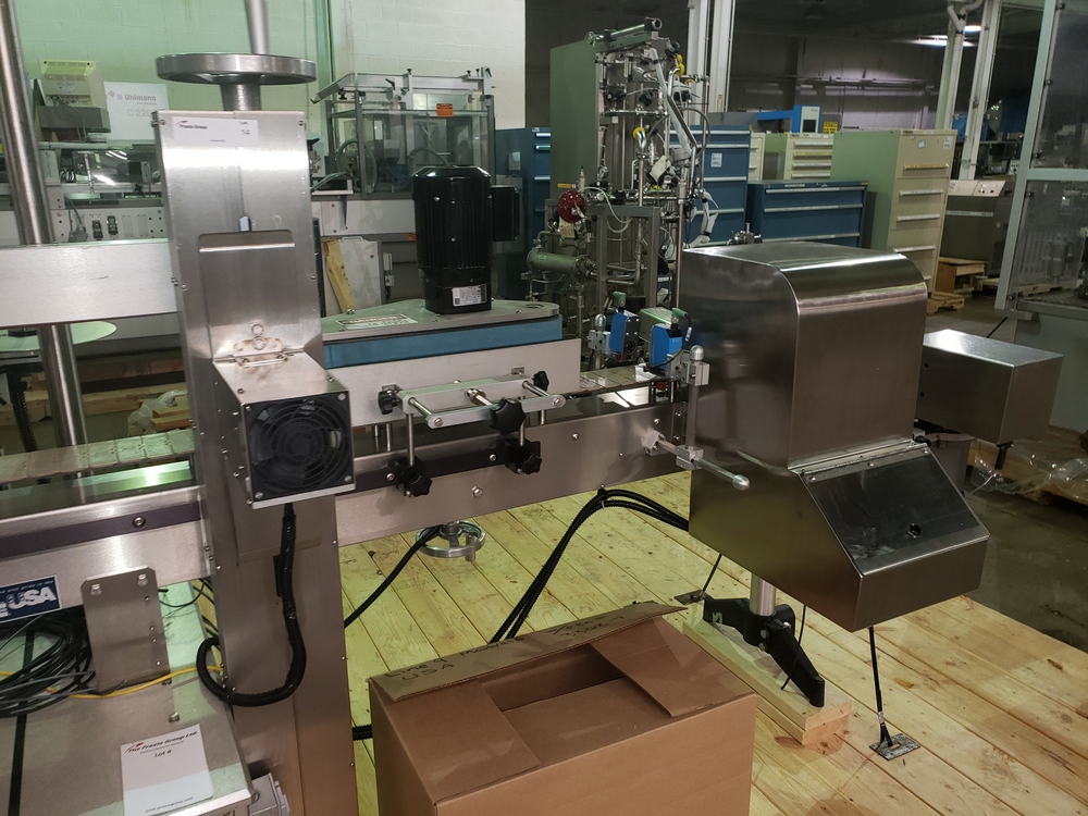 Quadrel wrap around labeler, model Versaline, single head with Open Date coder, timing feed screw, - Image 7 of 17
