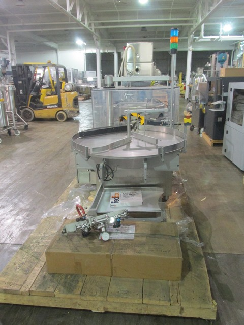 Bausch+Stroebel vial filling line, with model FAW1120 rotary vial washer, serial# 50585, model - Image 3 of 19