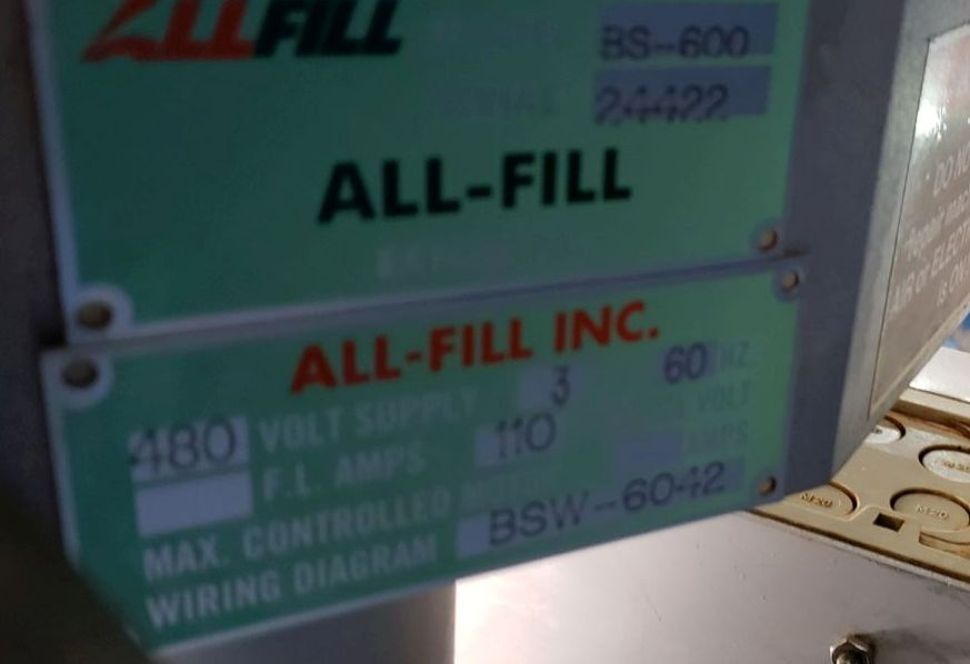 All-Fill auger filler, model BS600, stainless steel construction, - Image 7 of 15