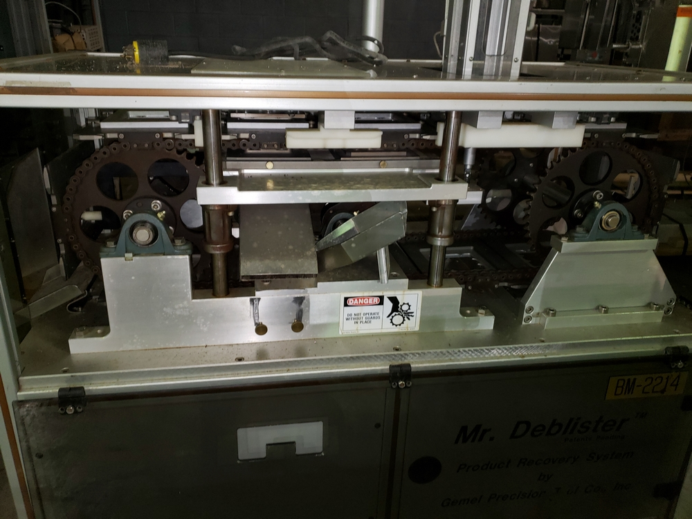 Gemel Mr. Deblister machine, 30mm x 50mm min to 120mm x 145mm max format sizes, rated up to 4800/ - Image 6 of 14