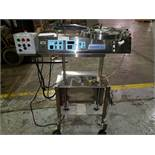 Pharmafill tablet counter, model TCA1R Automatic, stainless steel construction, on stand with