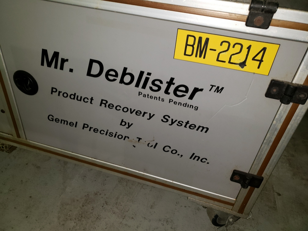 Gemel Mr. Deblister machine, 30mm x 50mm min to 120mm x 145mm max format sizes, rated up to 4800/ - Image 3 of 14