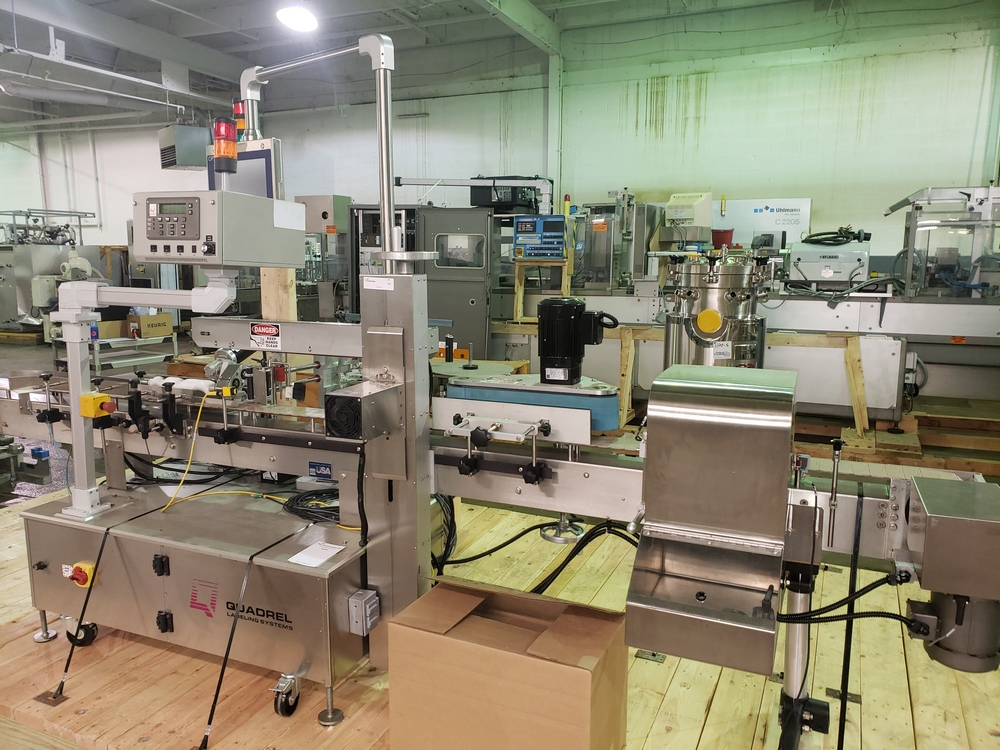 Quadrel wrap around labeler, model Versaline, single head with Open Date coder, timing feed screw, - Image 3 of 17