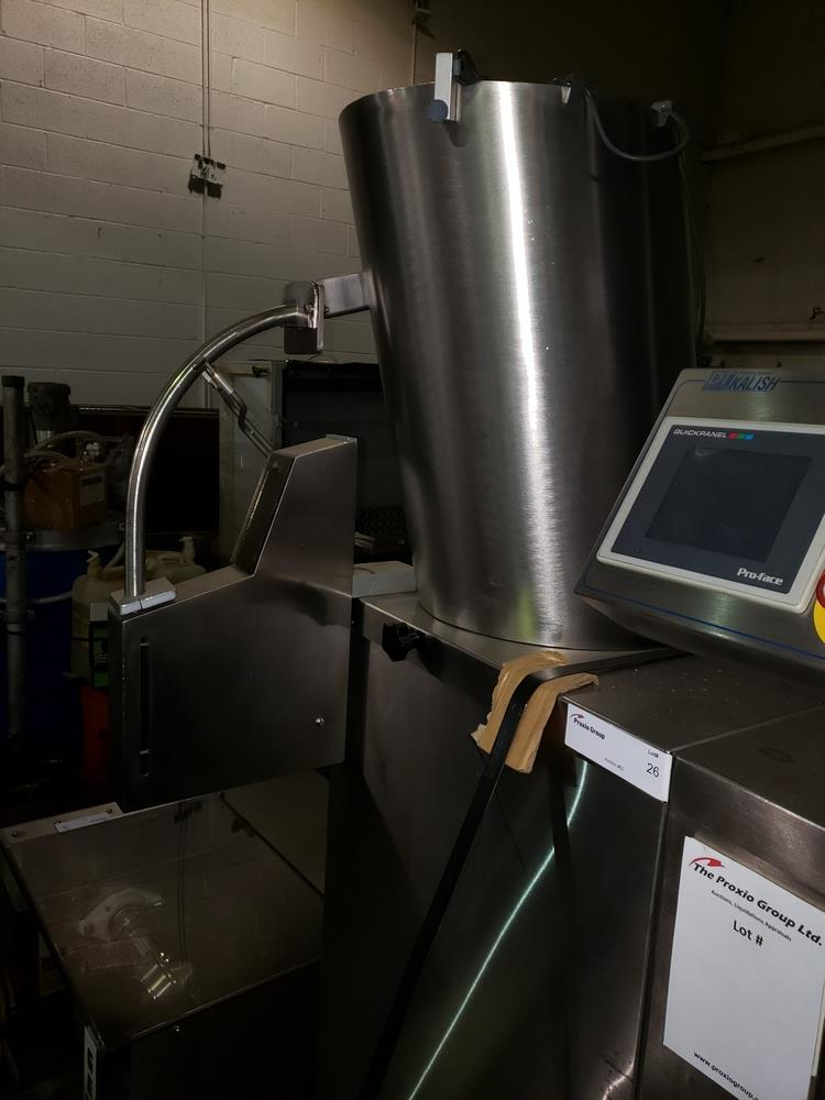 DT Kalish desiccant feeder, model 8331,designed for barrel canisters, with rotary bowl feeder and - Image 3 of 6