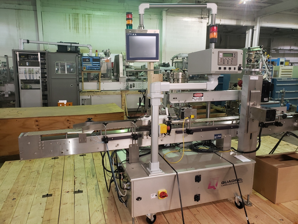 Quadrel wrap around labeler, model Versaline, single head with Open Date coder, timing feed screw, - Image 2 of 17