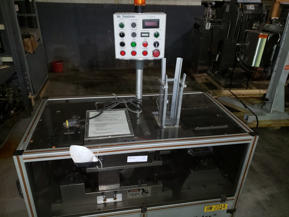 Gemel Mr. Deblister machine, 30mm x 50mm min to 120mm x 145mm max format sizes, rated up to 4800/ - Image 4 of 14