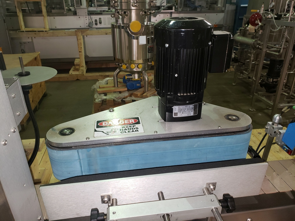 Quadrel wrap around labeler, model Versaline, single head with Open Date coder, timing feed screw, - Image 8 of 17