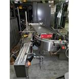 "Universal Machine bi-directional conveyor, model E 7998, 28"" wide x 36"" long table with 1 HP DC"