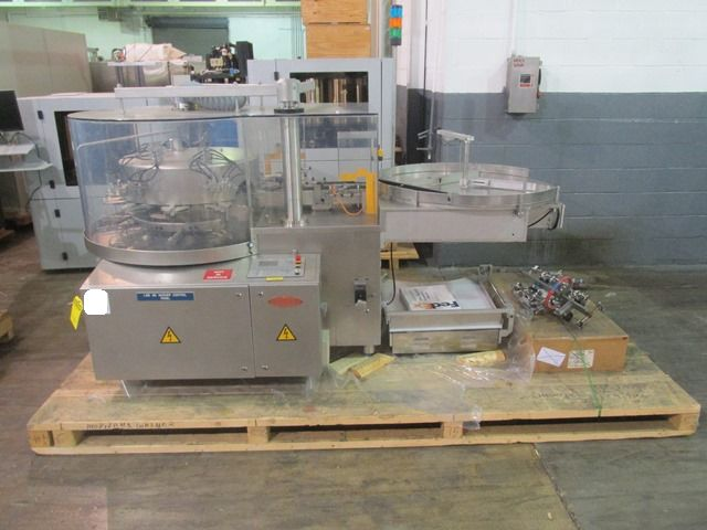 Bausch+Stroebel vial filling line, with model FAW1120 rotary vial washer, serial# 50585, model - Image 2 of 19