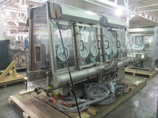 Bausch+Stroebel vial filling line, with model FAW1120 rotary vial washer, serial# 50585, model - Image 4 of 19