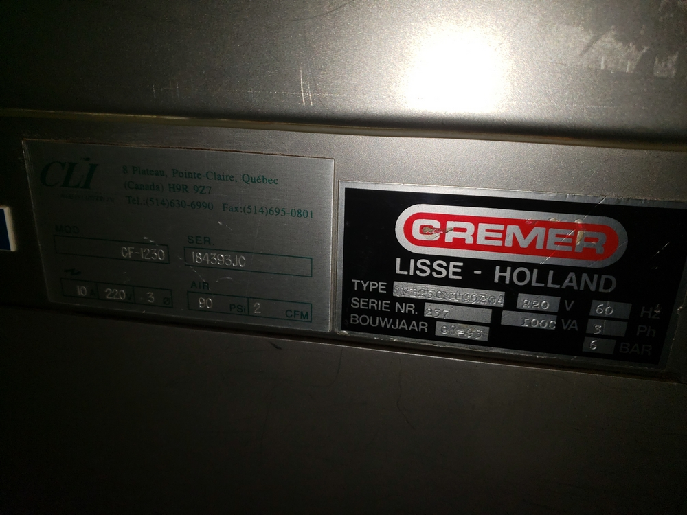Cremer tablet counter, model CF-1230, stainless steel Contacts **See Auctioneers Note** - Image 9 of 17