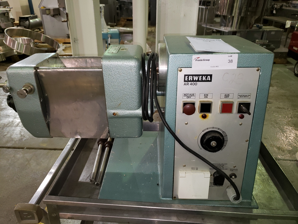 Erweka oscillating granulator, model AR400, stainless steel construction, bench top design, 110