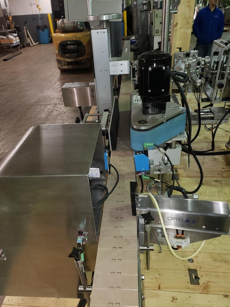 Quadrel wrap around labeler, model Versaline, single head with Open Date coder, timing feed screw, - Image 9 of 17