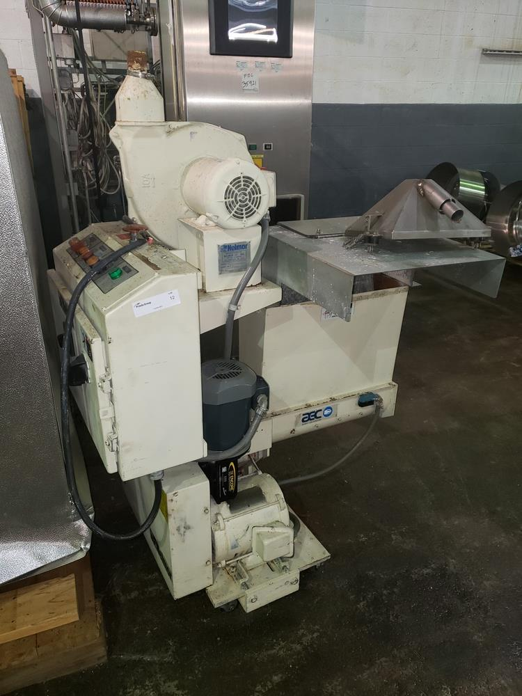 "Nelmor granulator, model F211, 8"" wide feed opening, screw feed, 2 knife rotor, 5 hp, 230/460 volt - Image 2 of 11"