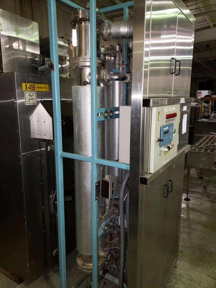 Finn Aqua single effect WFI still, model 200-H-1, single effect with heat exchanger, rated 116 psi - Image 4 of 8
