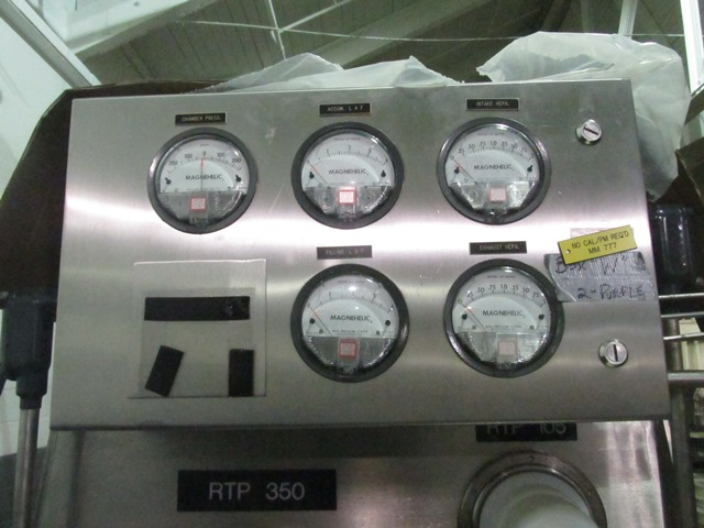 Bausch+Stroebel vial filling line, with model FAW1120 rotary vial washer, serial# 50585, model - Image 11 of 19