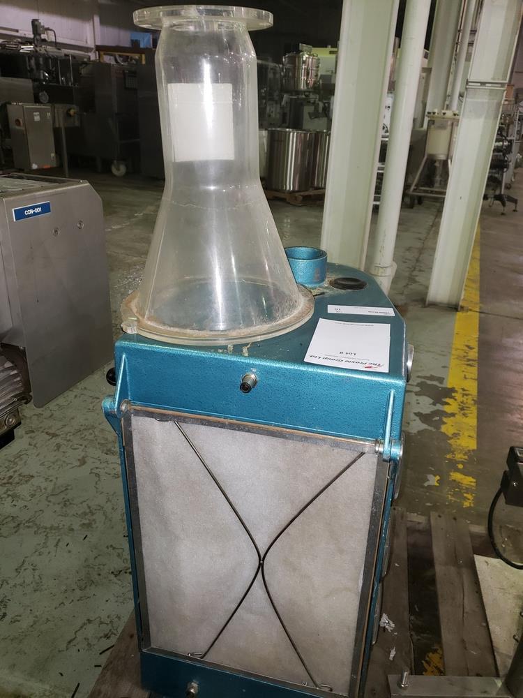 Aeromatic fluid bed dryer, model STREA1, with (2) plastic shells, top spray gun, 1 kw heater, 110 - Image 10 of 10