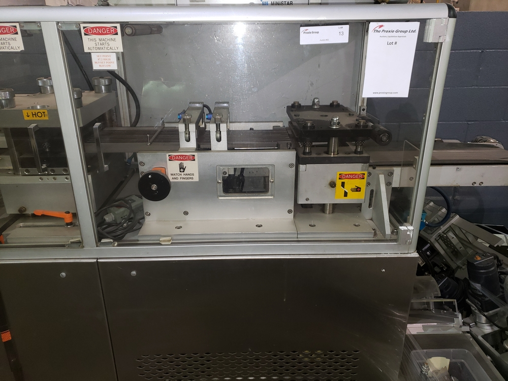 Hoong-A Corp thermoforming blister filler, model Ministar-N5, rated 30-60 strokes/minute, 200 mm - Image 8 of 25