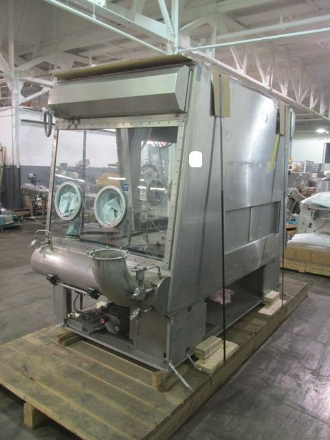 Bausch+Stroebel vial filling line, with model FAW1120 rotary vial washer, serial# 50585, model - Image 7 of 19