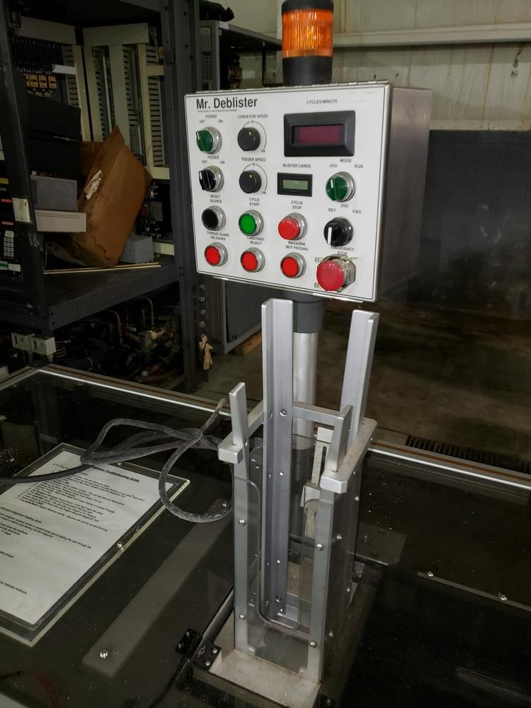 Gemel Mr. Deblister machine, 30mm x 50mm min to 120mm x 145mm max format sizes, rated up to 4800/ - Image 8 of 14