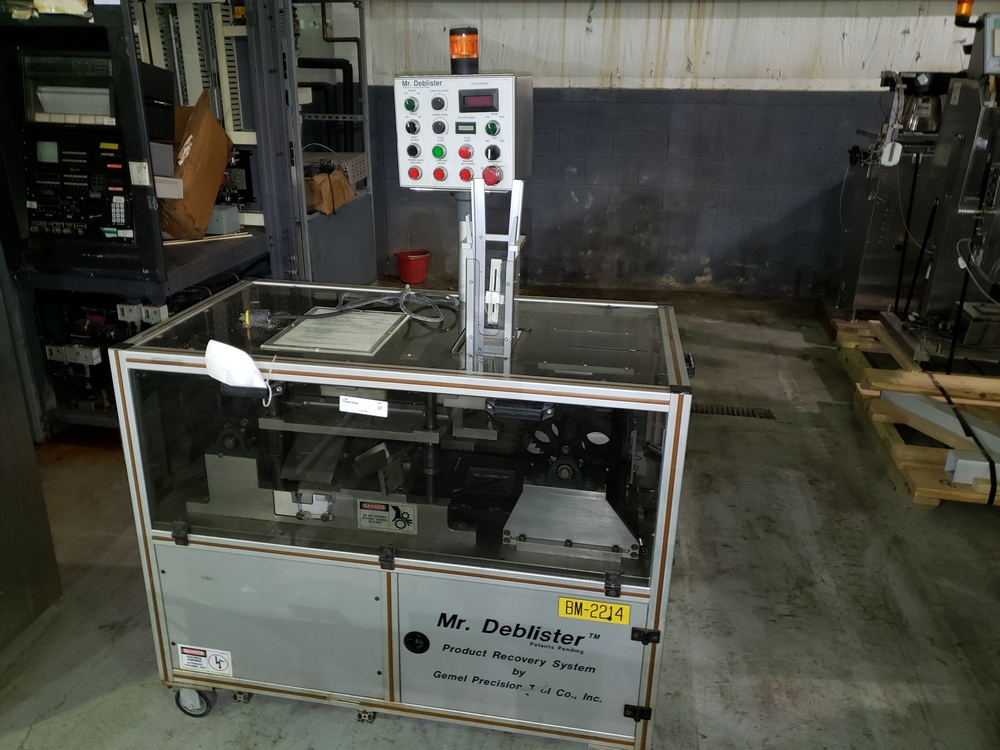 Gemel Mr. Deblister machine, 30mm x 50mm min to 120mm x 145mm max format sizes, rated up to 4800/ - Image 2 of 14