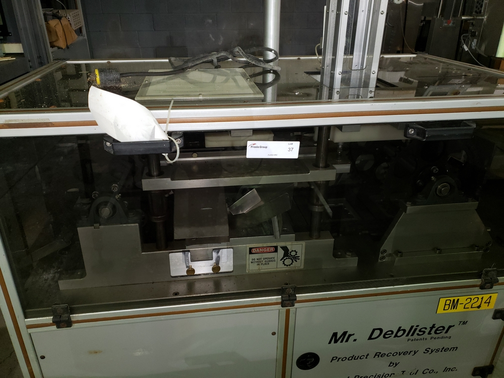 Gemel Mr. Deblister machine, 30mm x 50mm min to 120mm x 145mm max format sizes, rated up to 4800/ - Image 5 of 14