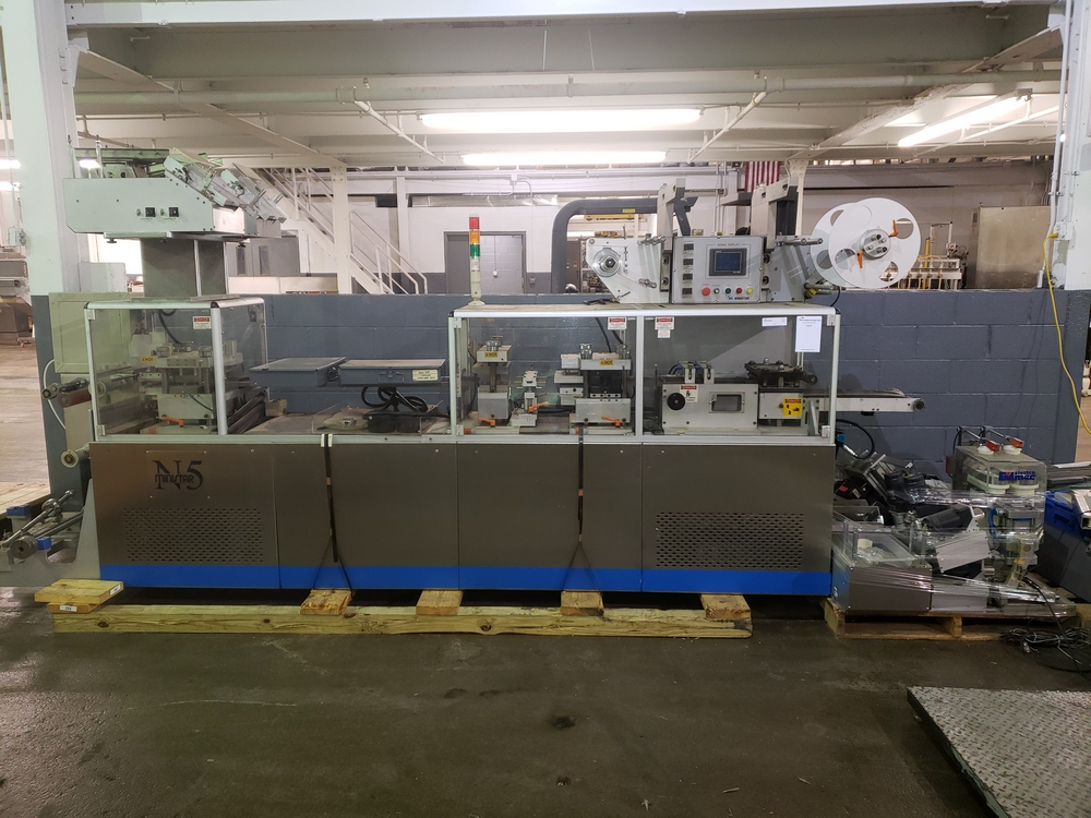 Hoong-A Corp thermoforming blister filler, model Ministar-N5, rated 30-60 strokes/minute, 200 mm