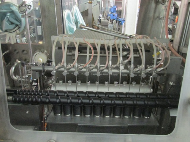 Bausch+Stroebel vial filling line, with model FAW1120 rotary vial washer, serial# 50585, model - Image 14 of 19