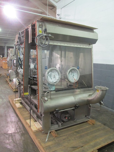 Bausch+Stroebel vial filling line, with model FAW1120 rotary vial washer, serial# 50585, model - Image 9 of 19