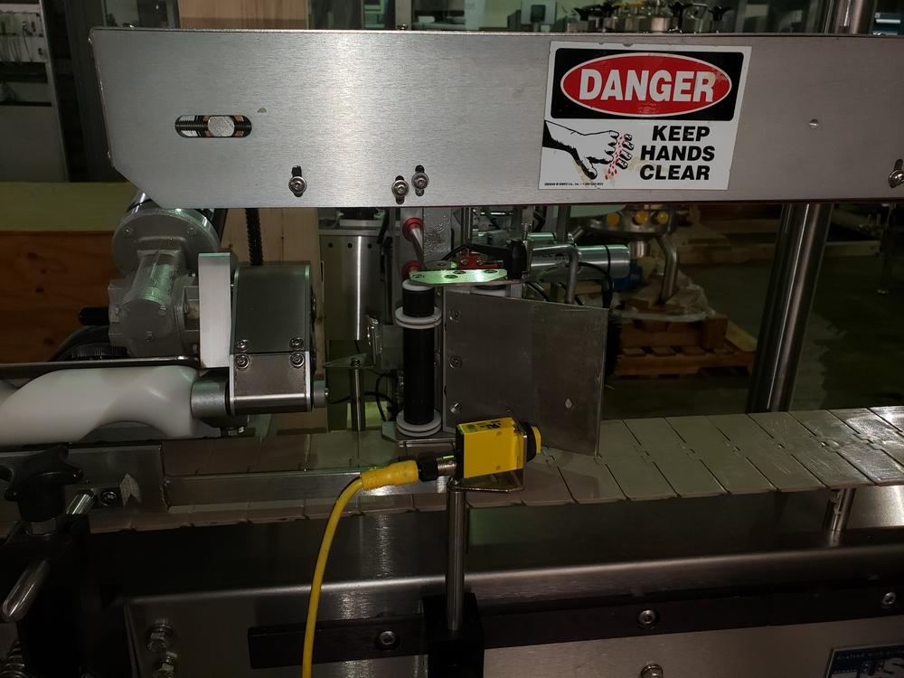 Quadrel wrap around labeler, model Versaline, single head with Open Date coder, timing feed screw, - Image 6 of 17