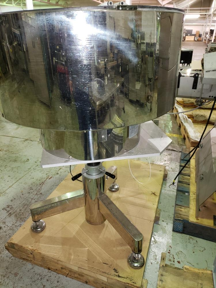 OZAF vibrating bowl feeder, stainless steel construction on stand. - Image 3 of 5