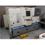 Turning Center. 1998 Okuma Space Turn LB300-M 3-Axis CNC Turning Center with Live Tool Turret, 8.25""
