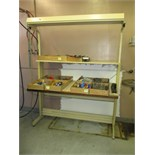 Workbenches. Lot: (2) Workbenches, 6ft and 5ft. HIT# 2205843. CNC Room. Asset Located at 859 Ward