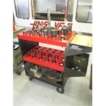 CNC Tool Cart. Huot ToolScoot CNC CAT-40 Tool Cart Transport with (34+) Assorted Tools Holders. HIT#