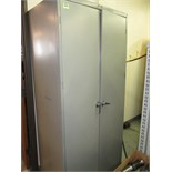 Cabinet with Contents. Storage Cabinet with Assorted Vise Jaws. HIT# 2205835. CNC Room. Asset