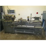 "Lathe. Cadillac 1749G Engine Lathe with 12"" 3-Jaw Chuck, 2 1/8"" Spindle Bore, 12"" 4-Jaw Chuck,"