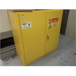Flam Cabinet. Eagle 1932 Flammable Liquids Storage Cabinet, 30 Gal Capacity with Contents. HIT#