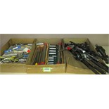 Assorted Tools. Lot: Assorted Tools. Includes: Machine Vise, Reamers, Broaches, Tap and Die Handles.