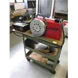 Table Indexers. Haas Lot: (2) Rotary Indexing Heads with Cart and Tools. HIT# 2205809. CNC Room.