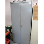 Cabinet with Contents. Storage Cabinet with Misc Tooling. HIT# 2205832. CNC Room. Asset Located at