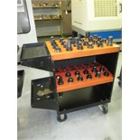 CNC Tool Cart. Huot ToolScoot CNC CAT-40 Tool Cart Transport with (35) Assorted Tools Holders.