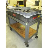 "Surface Plate. Precision 24""x 48""x 6 1/2"" Granite Surface Plate with Heavy Duty Rolling Cart. HIT#"