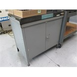 "Surface Plate. Standridge 24""x 36""x 3"" Granite Surface Plate with 2-Drawer Cabinet. HIT# 2205845."