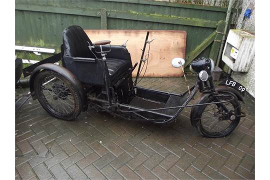 A 1940s Argson Runnymede Invalid Carriage Restoration Project Black