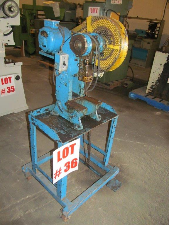 Lot 36 - RHODES PUNCH PRESS, 4TON CAPACITY, ELECTRICS 115V1PH/60C